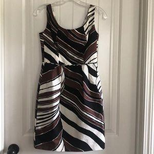 TRINA TURK Dress size 2 brown black white